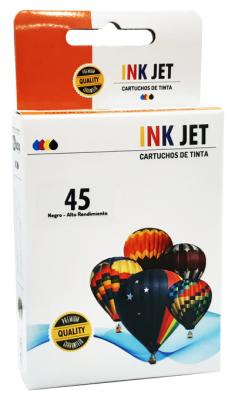 Cartucho Alternativo De Tinta Star Ink Para  51645 - (#45) - (42 Ml) - Negro